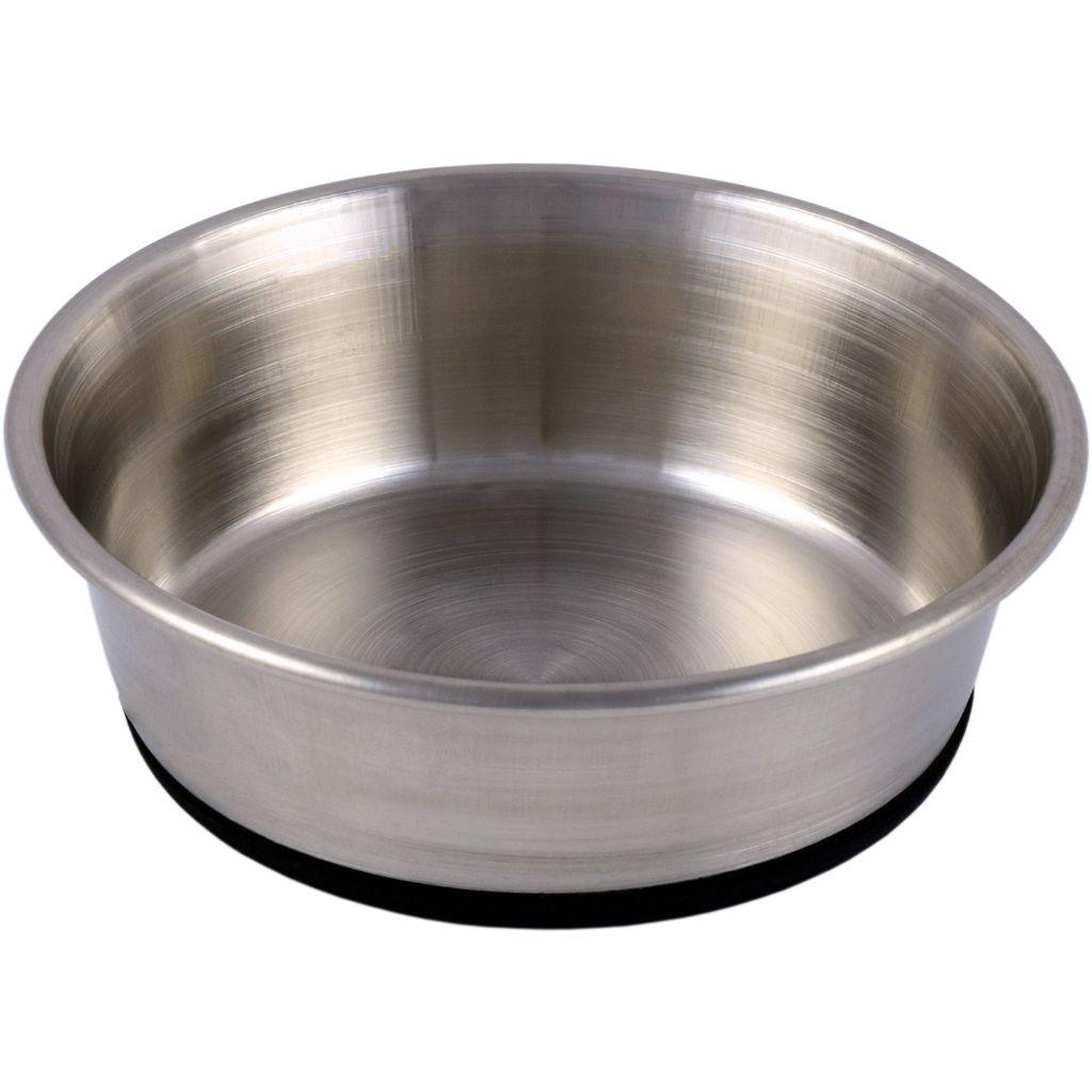 Unleashed Premium Rubberized Non-Skid Stainless Pet Bowl Image