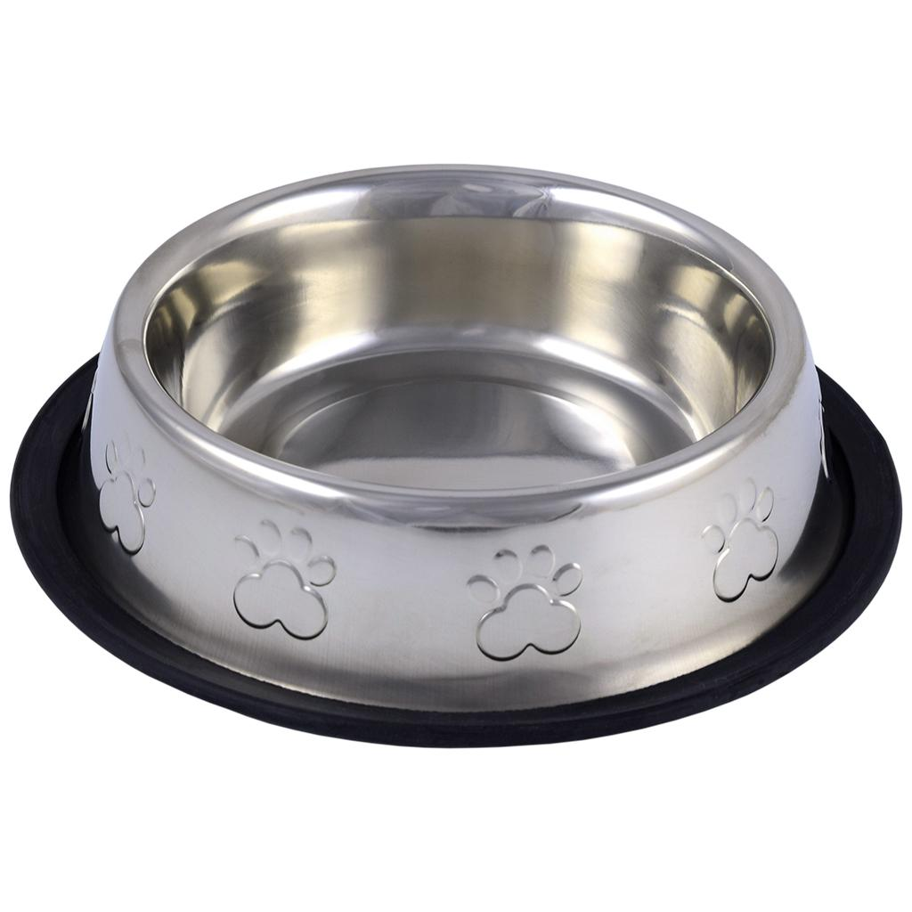 Unleashed Non-Skid Stainless Steel Enhanced Pet Bowl Image