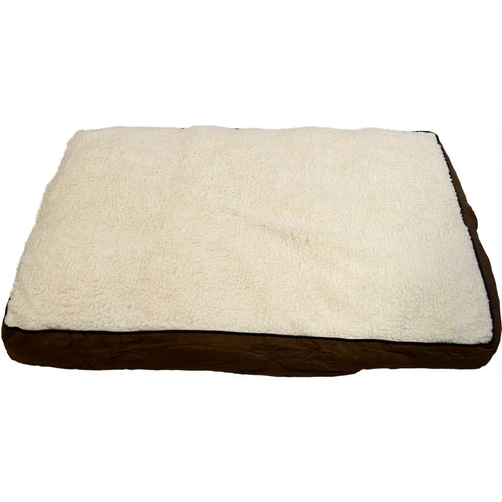 Unleashed Gusset Luxury Sherpa Pet Bed, Navy Suede Image