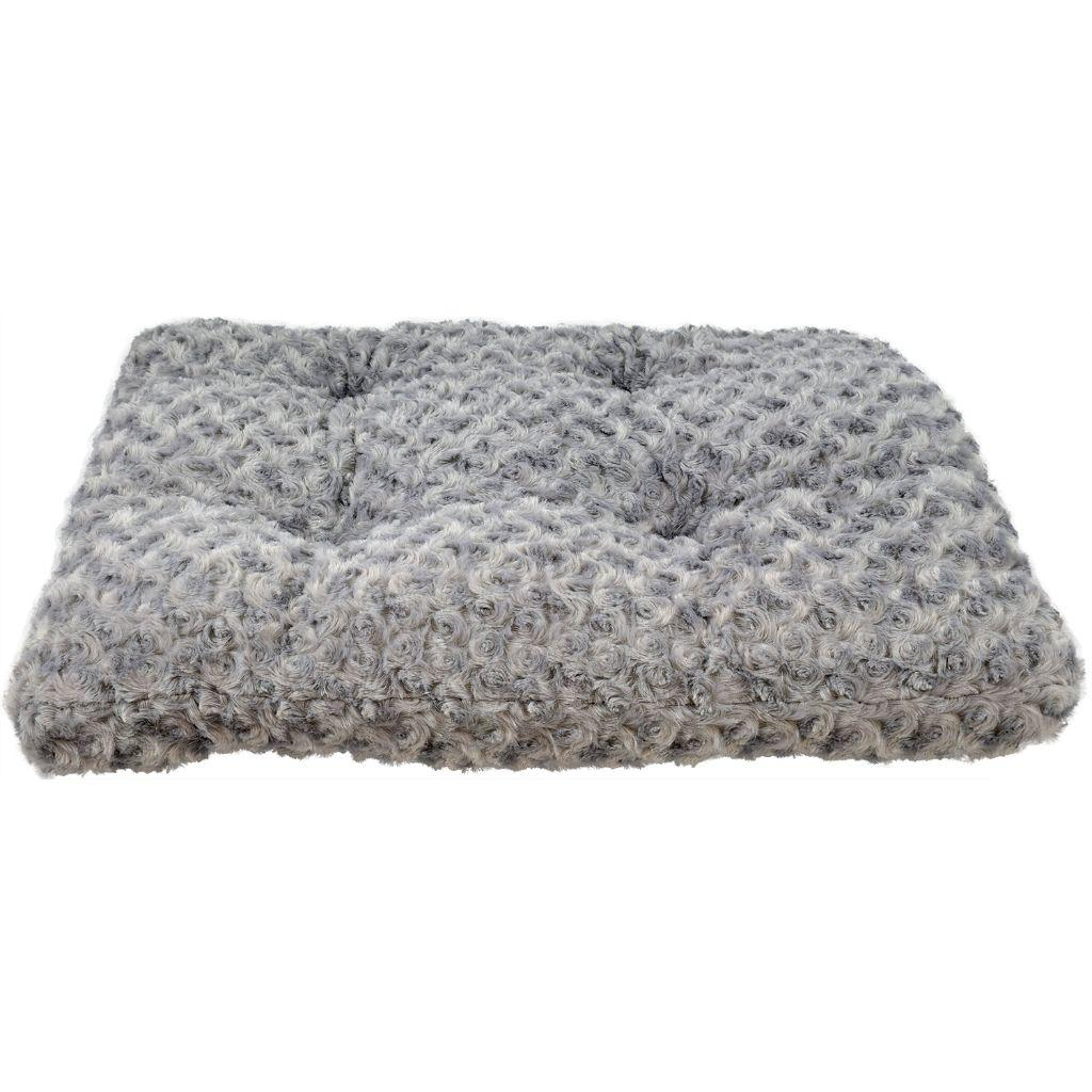 Unleashed Chill Gusset Pet Bed, Silver Swirl, 30 x 18-in