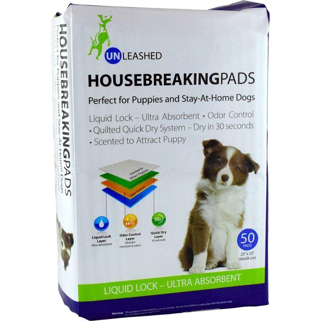 Unleashed Housebreaking Dog Pads, 50-pk