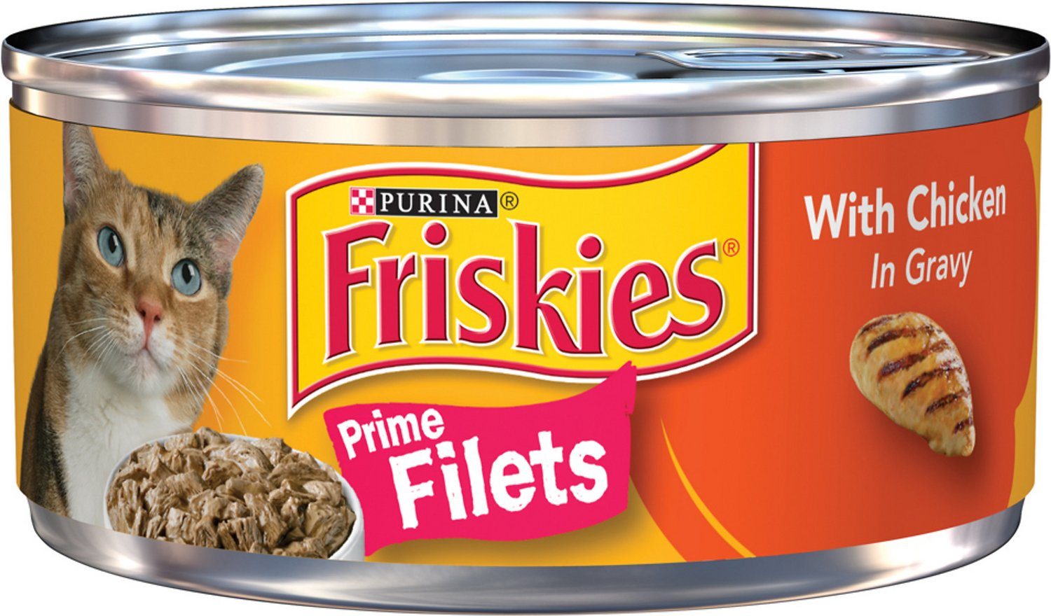 Friskies Prime Filets with Chicken in Gravy Canned Cat Food,  5.5-oz