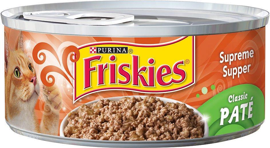 Friskies Classic Pate Supreme Supper Canned Cat Food,  5.5-oz