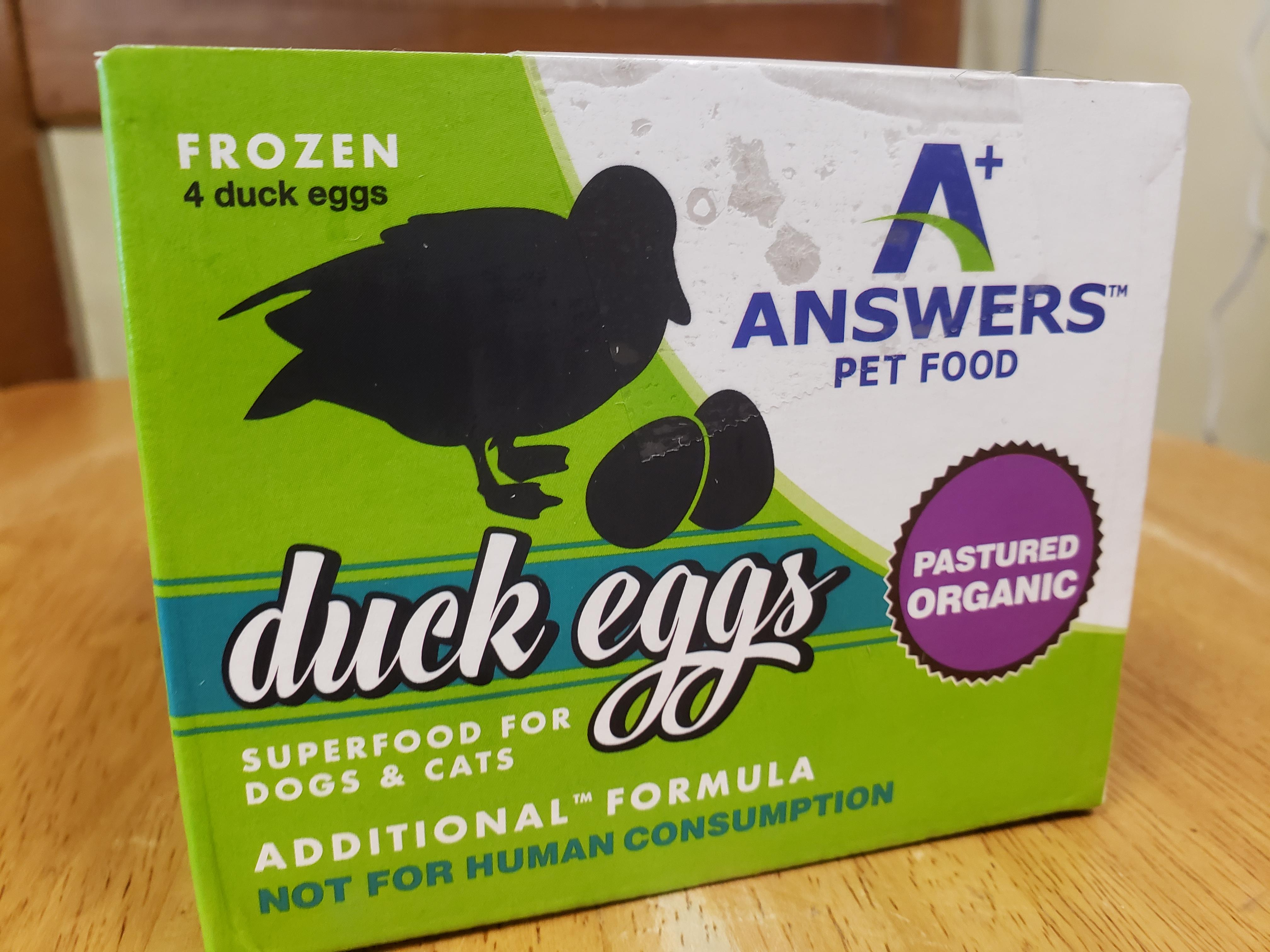 Answers Additional Formula Duck Eggs Frozen Dog & Cat Food Image