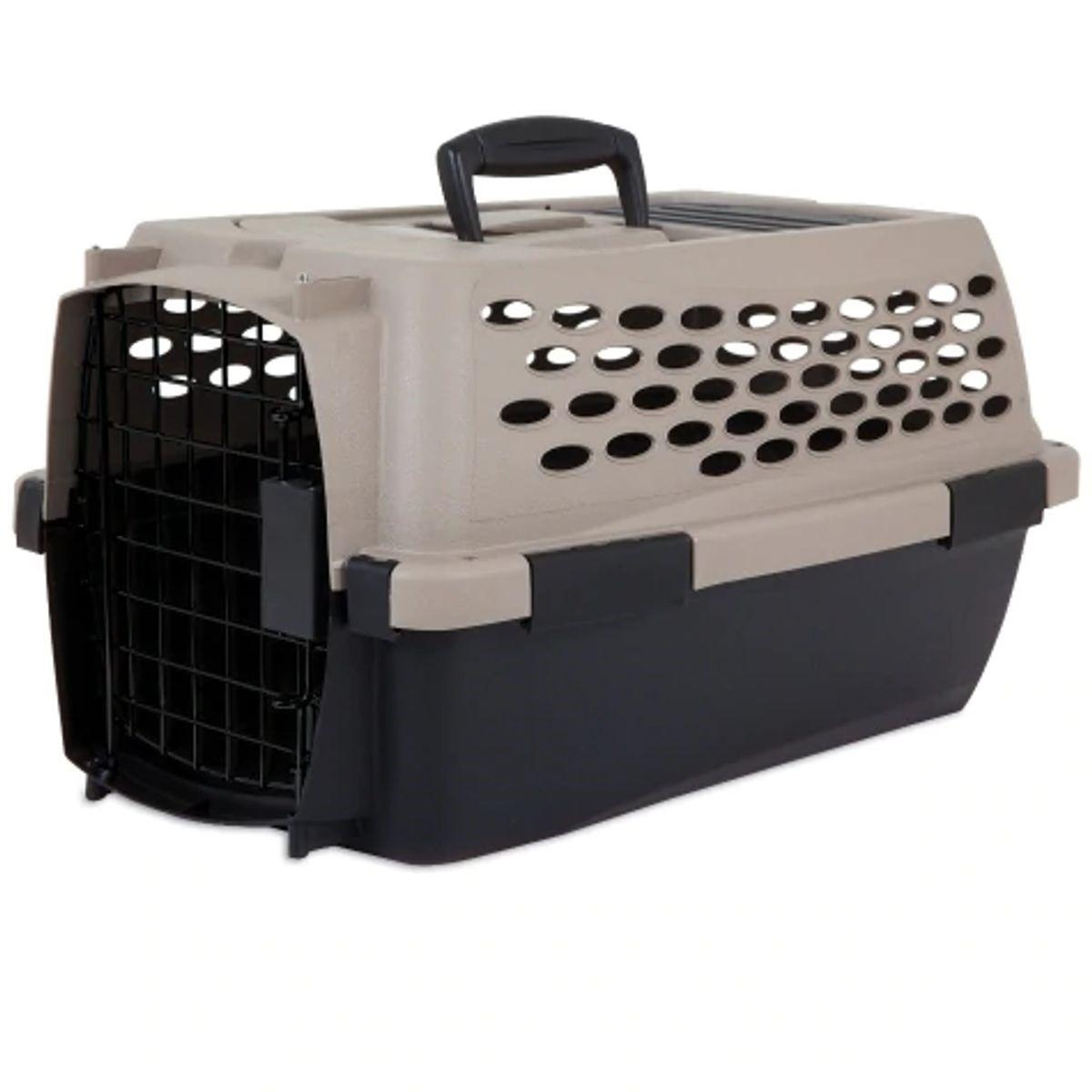 Petmate Vari Kennel Pet Carrier, Taupe/Black, 32-in, 32-in