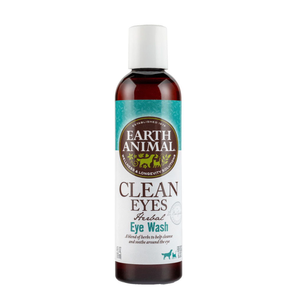 Earth Animal Herbal Topical Remedies Clean Eyes Eye Wash for Dogs & Cats, 4-oz Bottle