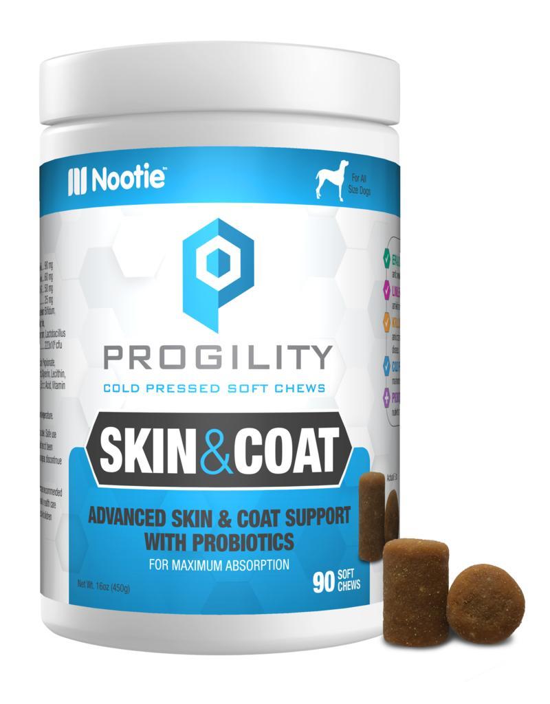 Nootie Progility Skin & Coat with Probiotics Dog Supplement, 90-count