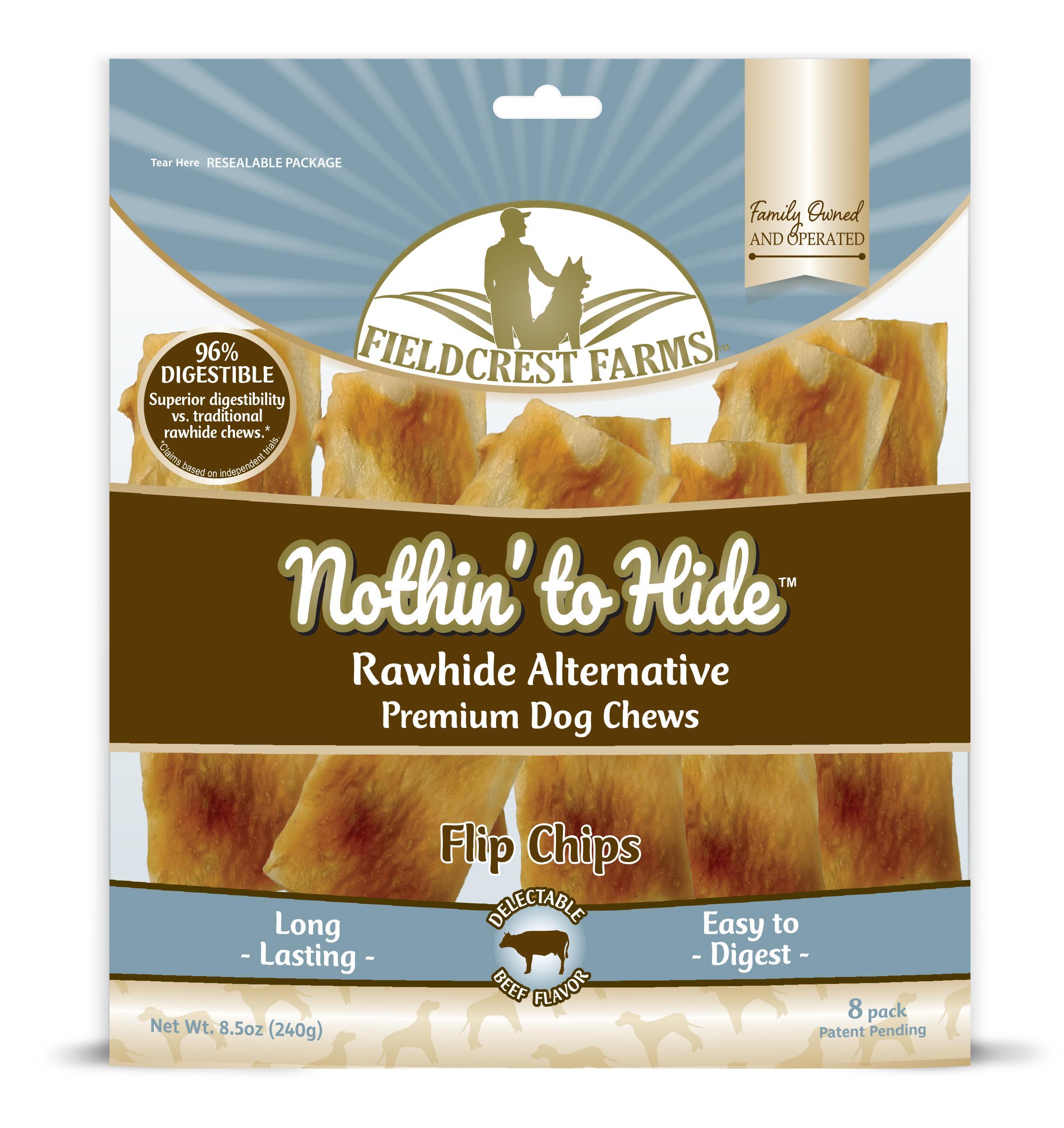 Fieldcrest Farms Nothin' to Hide Beef Flip Chips Dog Treats, 8-pk