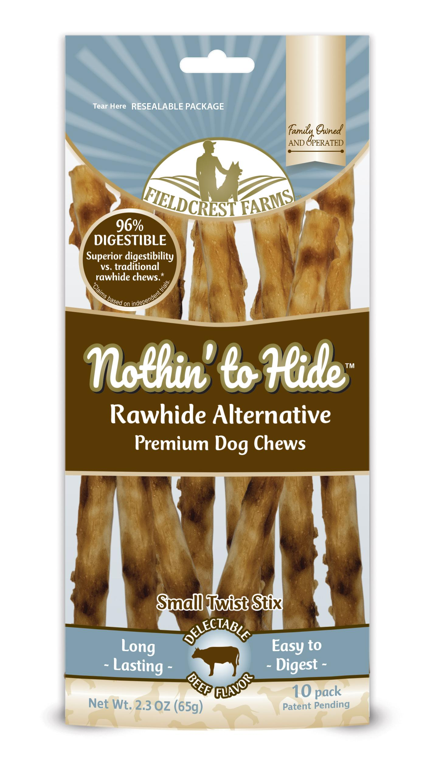 Fieldcrest Farms Nothin' to Hide Beef Twist Stix Dog Treats, 10-pk