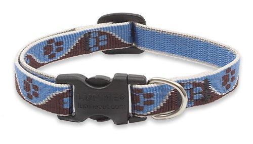 Lupine Pet Original Designs Adjustable Dog Collar, Muddy Paws, 1/2-in x 6-9-in