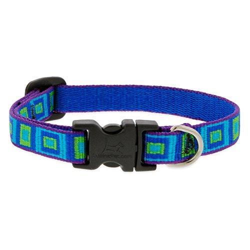 Lupine Pet Original Designs Adjustable Dog Collar, Sea Glass, 1/2-in x 6-9-in