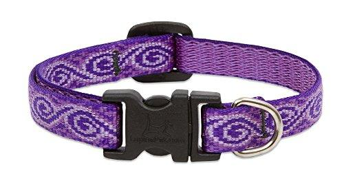 Lupine Pet Original Designs Adjustable Dog Collar, Jelly Roll, 1/2-in x 10-16-in