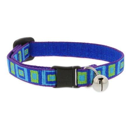 Lupine Pet Original Designs Safety with Bell Cat Collar, Sea Glass, 1/2-in x 8-12-in