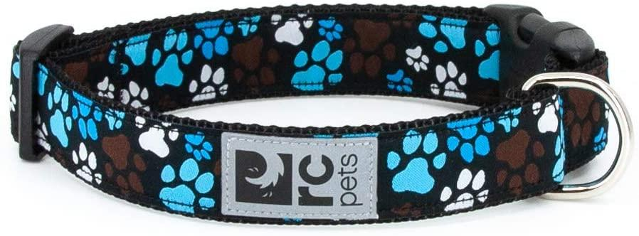 RC Pet Products Clip Dog Collar, Pitter Patter Chocolate, Large