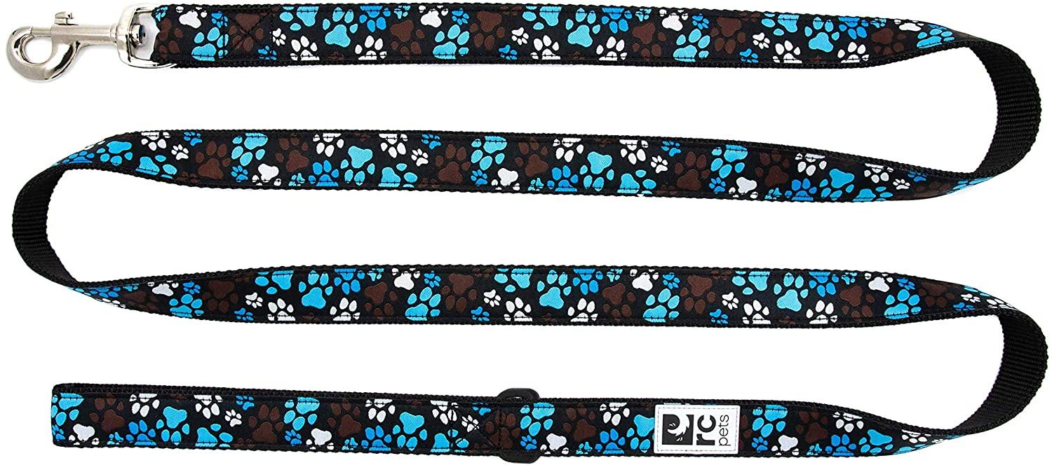 RC Pet Products Dog Lead, Pitter Patter Chocolate, 3/4-in x 6-ft