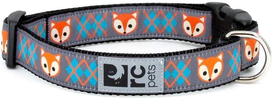 RC Pet Products Clip Dog Collar, Fox, Medium