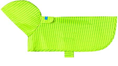RC Pet Products Packable Rain Dog Poncho, Lime Halftone, X-Small