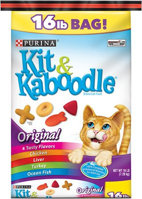 Kit & Kaboodle Original Dry Cat Food, 16-lb bag