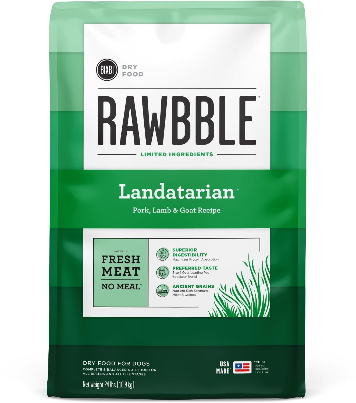 Bixbi Rawbble Landatarian Recipe Dry Dog Food, 24-lb