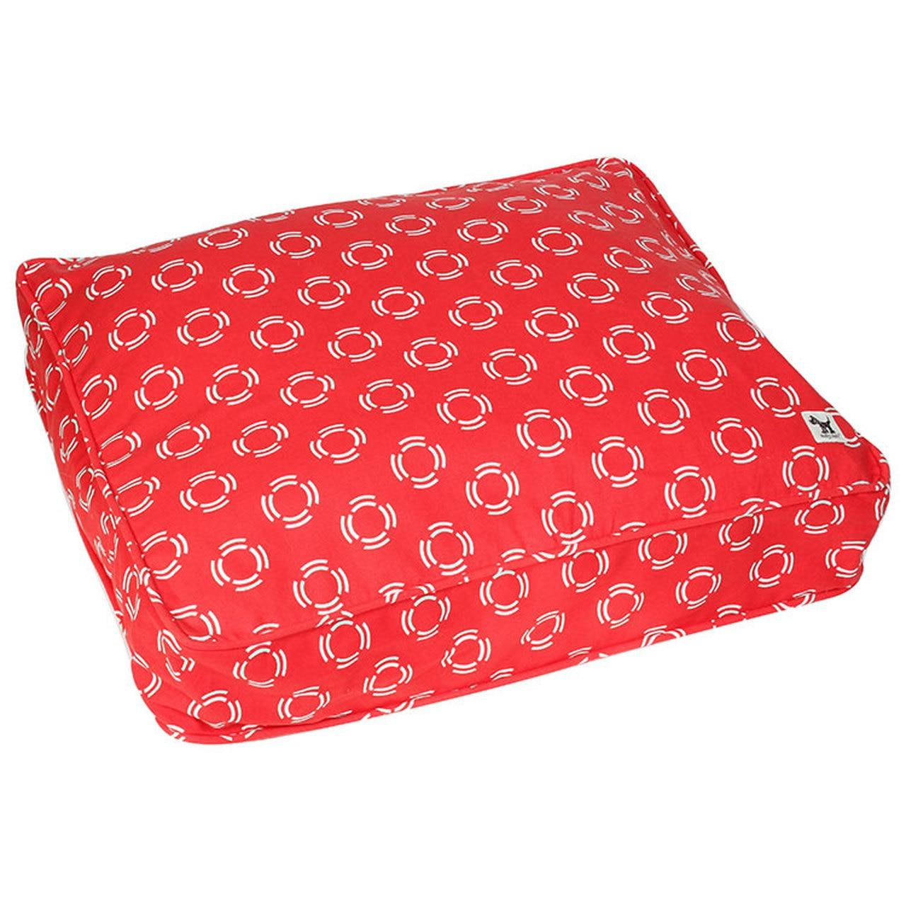 Molly Mutt Lady in Red Duvet Dog Bed, Small