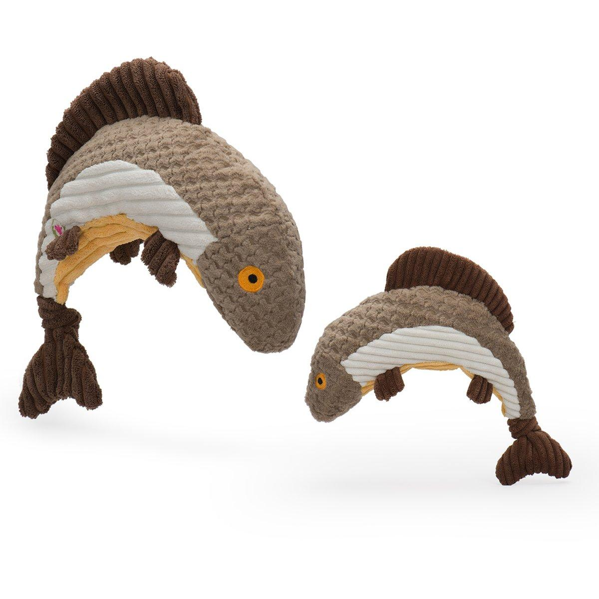 HuggleHounds Totally Tiger Trout Knottie Dog Toy, Small