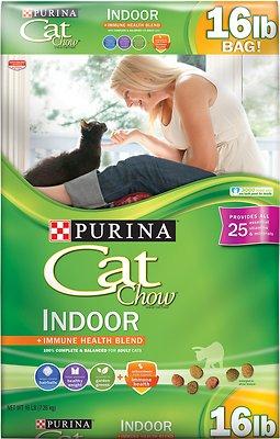 Cat Chow Indoor Dry Cat Food, 16-lb bag