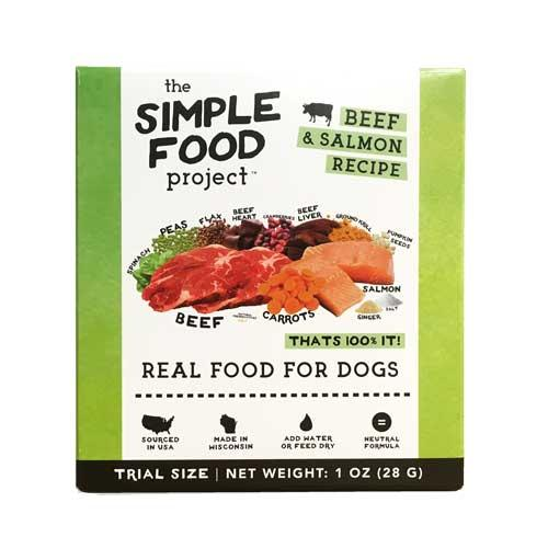 The Simple Food Project Beef & Salmon Freeze-Dried Dog Food, 1-oz