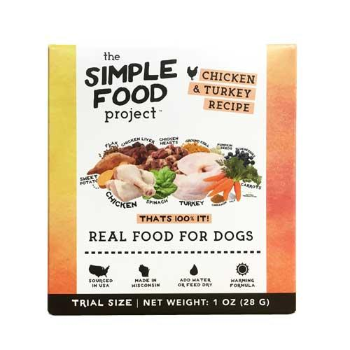 The Simple Food Project Chicken & Turkey Freeze-Dried Dog Food, 1-oz