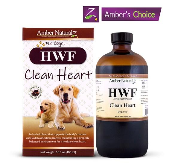 Amber Naturalz HWF Dog Supplement, 16-oz