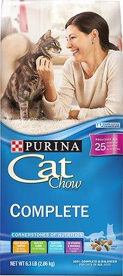Cat Chow Complete Dry Cat Food, 6.3-lb bag