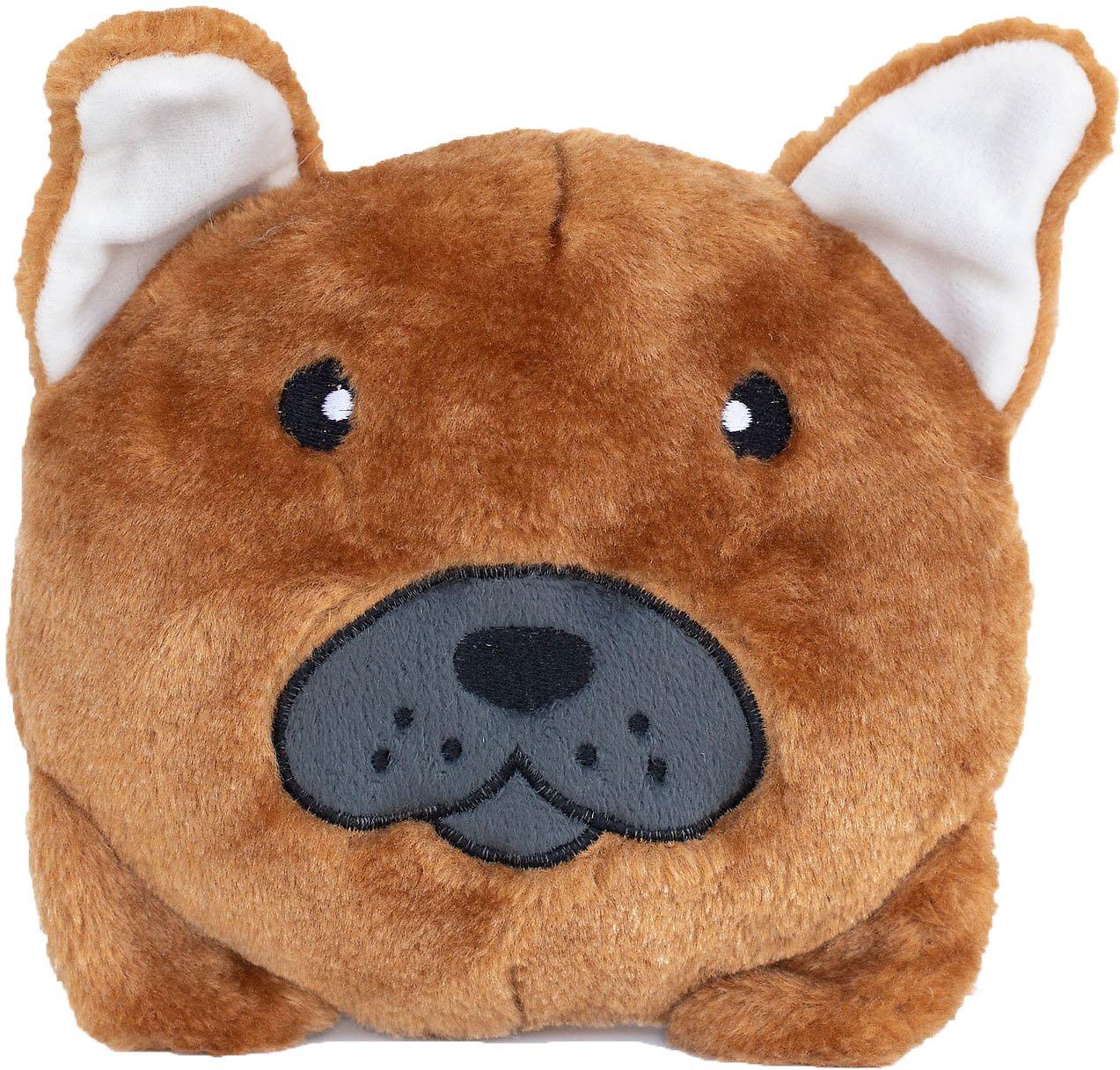 ZippyPaws Squeakie Buns Dog Toy, Bull Dog