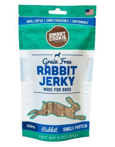 Smart Cookie Barkery Rabbit Jerky Strips Grain-Free Dog Treats, 3-oz