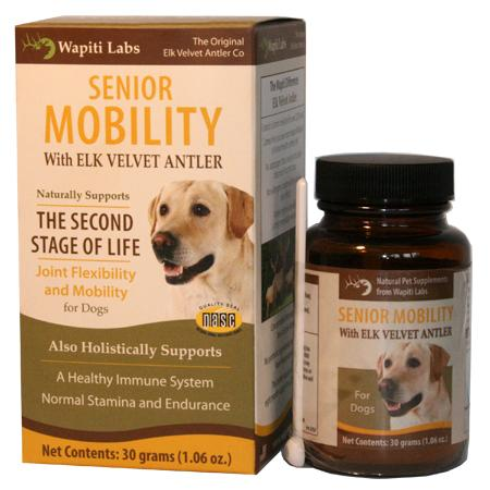 Wapiti Labs Senior Mobility Formula with Elk Velvet Antler Tablet Dog Supplement, 60-count