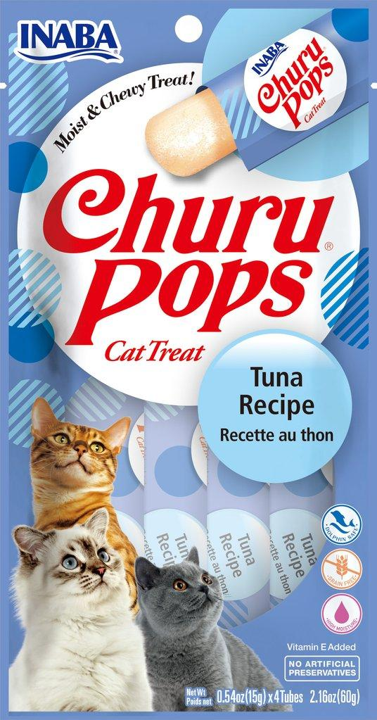 Inaba Churu Pops Tuna Grain-Free Cat Treats, 2.16-oz