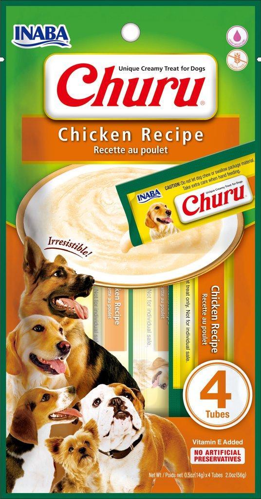 Inaba Churu Chicken Grain-Free Dog Treats, 4-pk