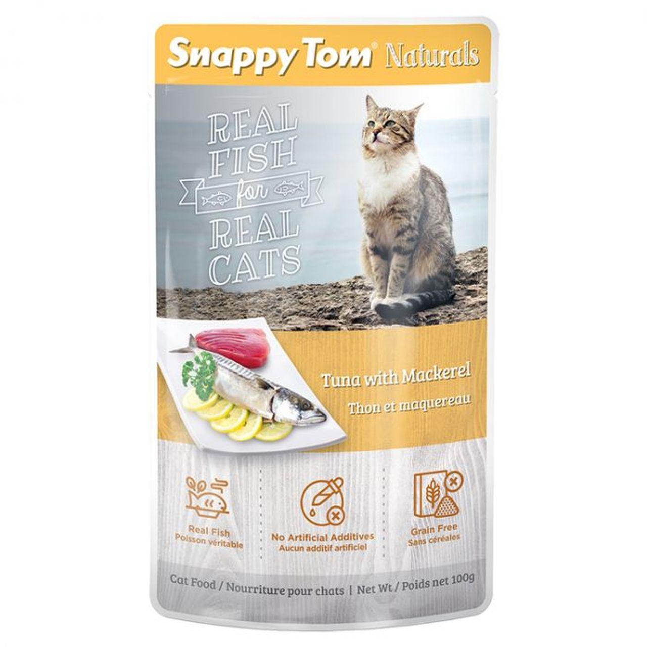 Snappy Tom Pouch Tuna Mackerel Pouch, 100-g