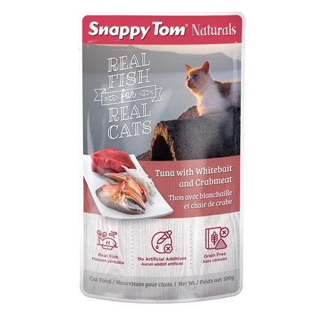 Snappy Tom Tuna, Whitebait, Crab Pouch, 100-g