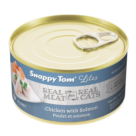 Snappy Tom Small Can Chicken & Salmon Wet Cat Food, 3-oz