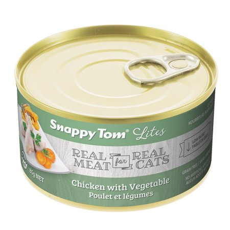 Snappy Tom Small Can Chicken & Veggie Wet Cat Food, 3-oz