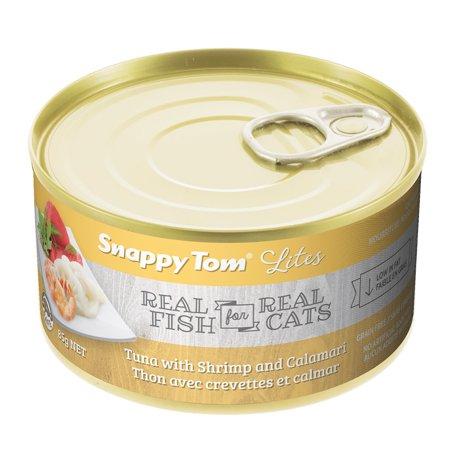 Snappy Tom Small Can Tuna & Shrimp Wet Cat Food, 3-oz