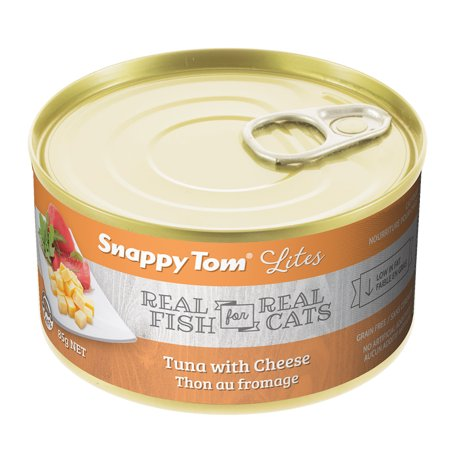 Snappy Tom Tuna & Cheese Wet Cat Food, 3-oz