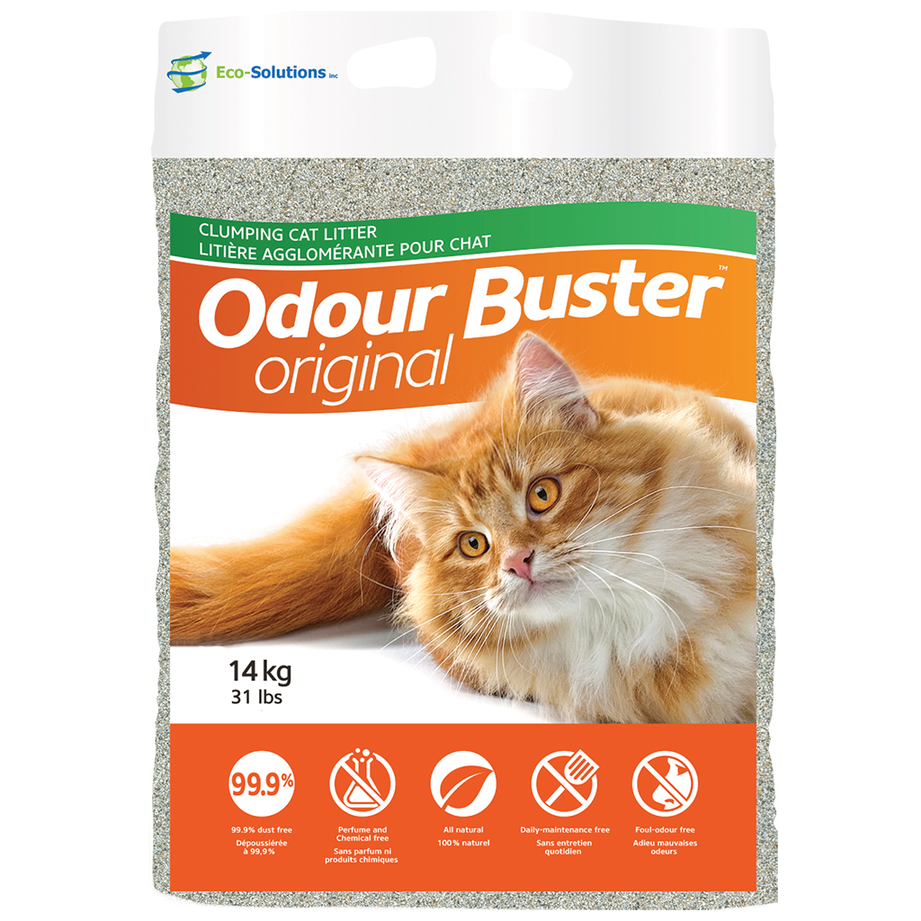 Odour Buster Original Cat Litter, 14-kg