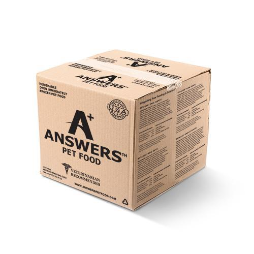 Answers Detailed Formula Raw Beef Patties Frozen Dog Food, 20-lb