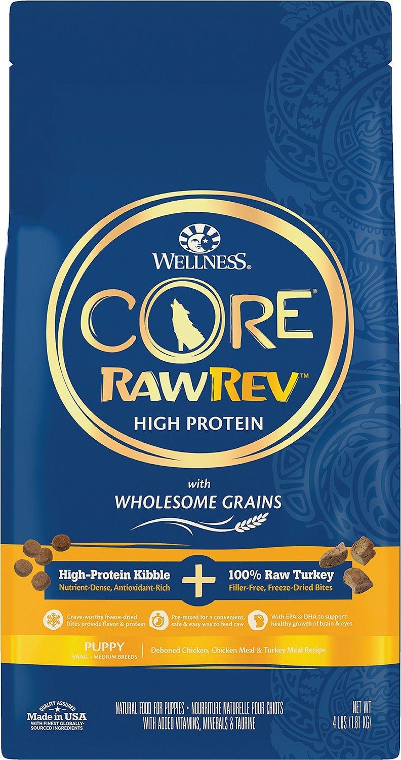 Wellness CORE RawRev Wholesome Grains Puppy Recipe with Freeze Dried Turkey Dry Dog Food, 4-lb
