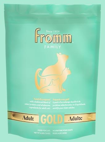 Fromm Gold Adult Dry Cat Food, Green, 4-lb