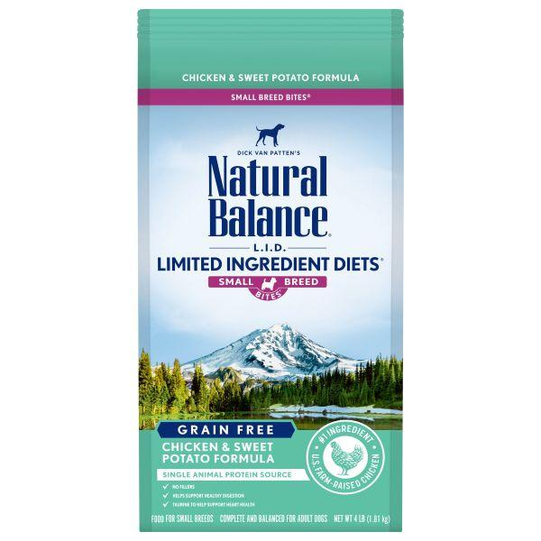 Natural Balance Limited Ingredient Diets Chicken & Sweet Potato Formula Small Breed Bites Grain-Free Dry Dog Food, 4-lb