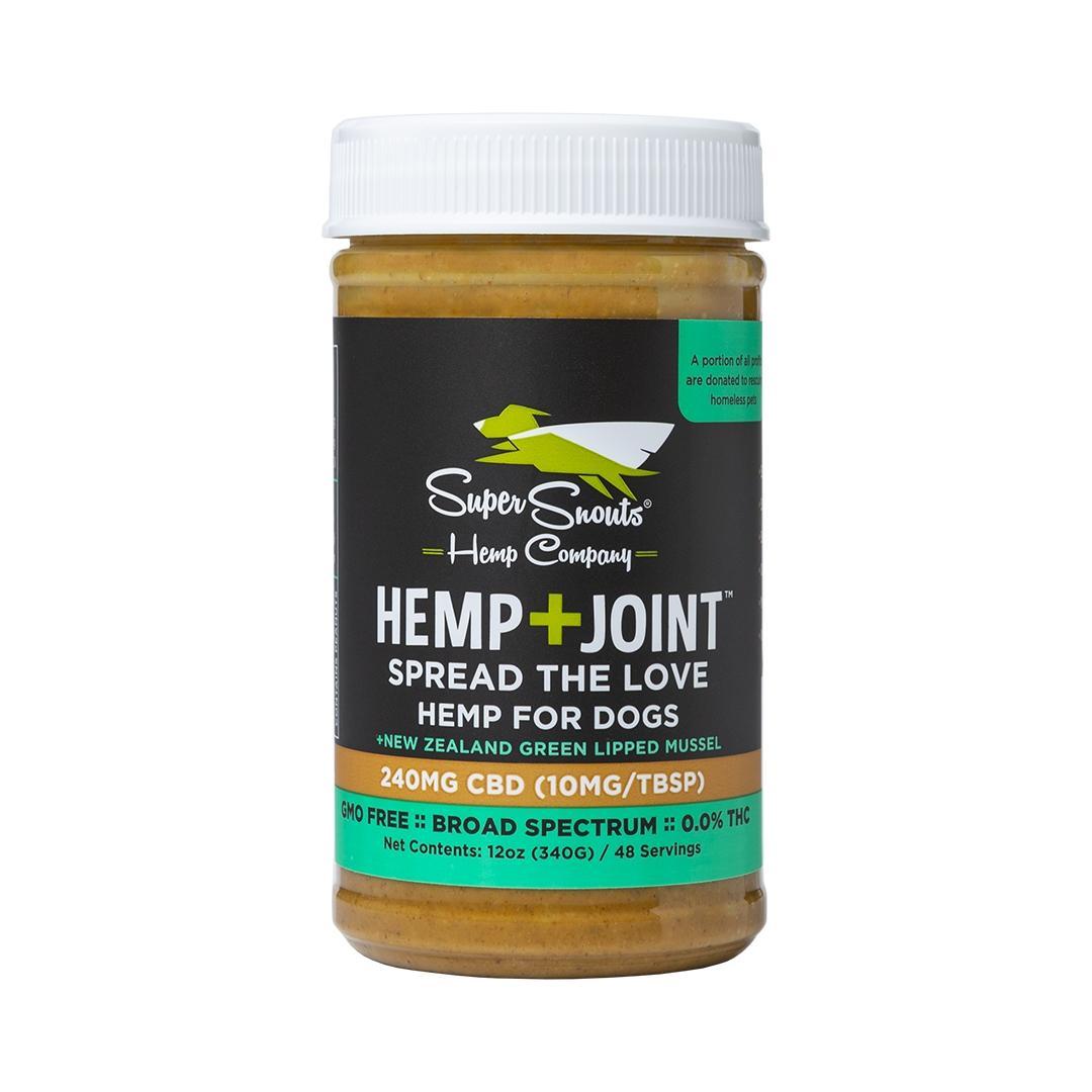 Super Snouts Hemp+JOINT BS Peanut Butter   C B D   for Dogs, 240mg, 12-oz