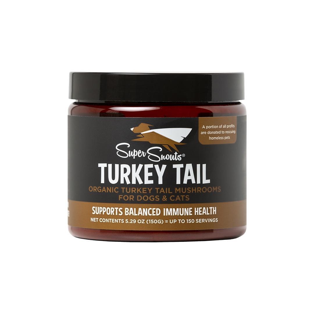 Super Snouts Turkey Tail Mushroom Dog & Cat Supplement, 150-gram