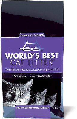 World's Best Cat Litter Lavender Scented Multiple Cat Clumping Formula, 7-lb bag