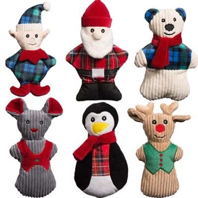 Huggle Hounds Holiday Cookie Characters Dog Toy, Polar Bear